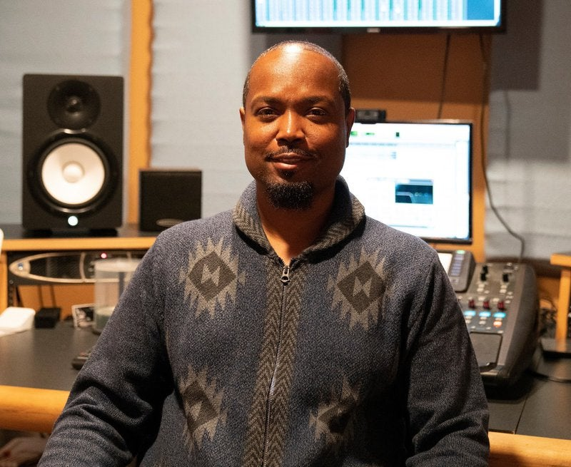 Photo of Samori Coles from Lil' Drummaboy Recordings.