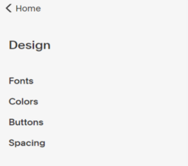 The toolbars on Squarespace Commerce back-end.