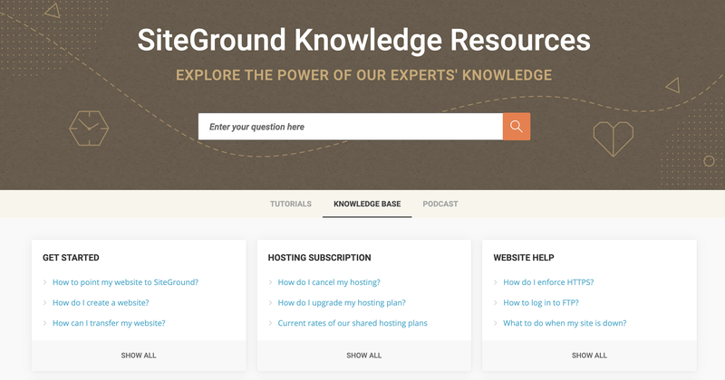 The SiteGround resource library for learning and troubleshooting.