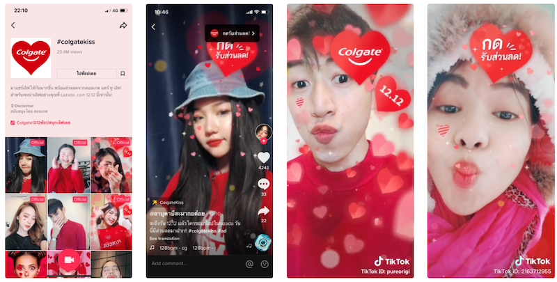Campaign on TikTok in Thailand