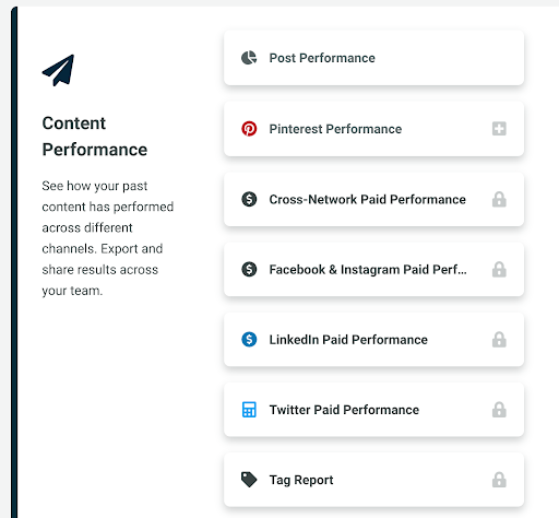 Sprout Social's reporting options