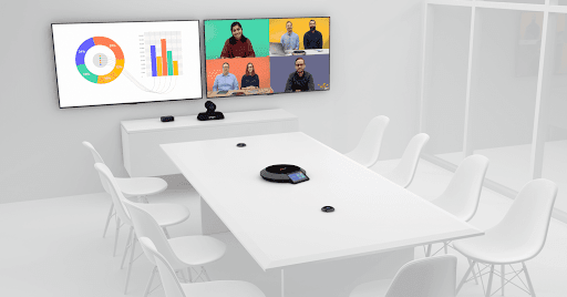 Hard codec video conferencing system