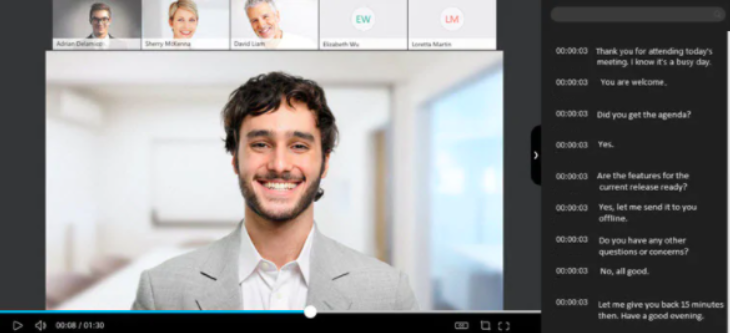 A screenshot of the Webex video conferencing interface.