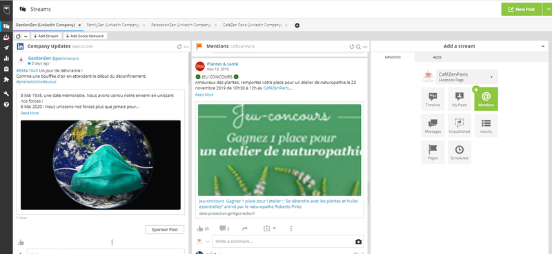 Hootsuite's Streams view