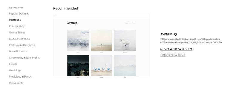 The Squarespace theme templates for building websites, portfolios and shops.