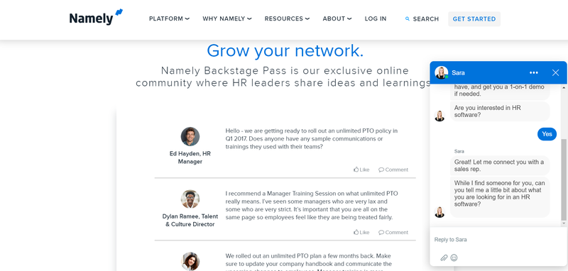 Namely's community of HR experts