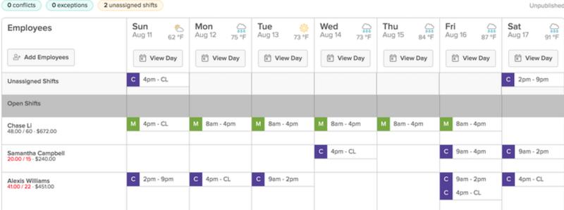 7shifts work schedule