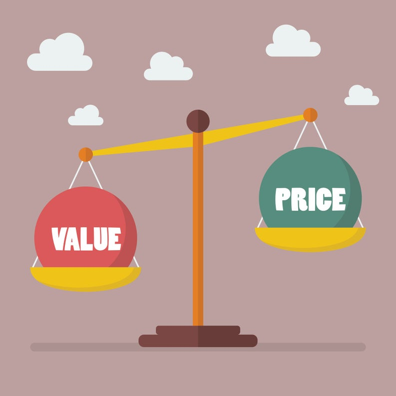 scale measuring value and price